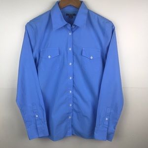 NAUTICA Button Down 100% Cotton Blue Shirt